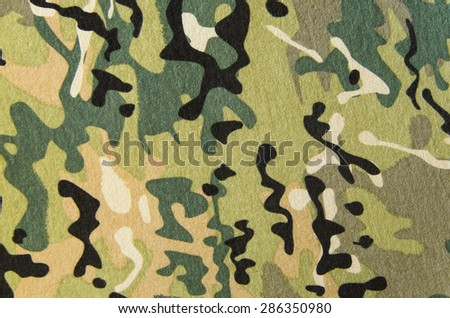 Military multicam camouflage fabric texture background