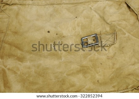 Military Or Army Rough Fabric Background Texture Close-up