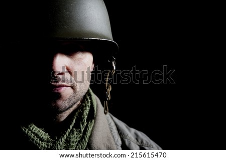 Military PTSD - stock photo