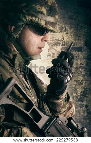 Military soldiers - stock photo