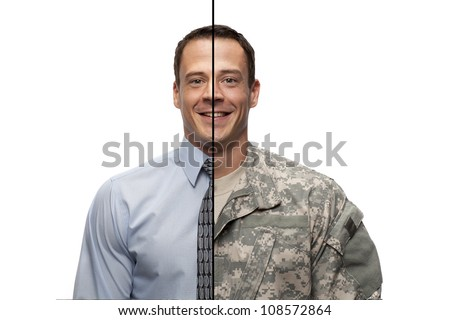 Military to Civilian Transition - stock photo