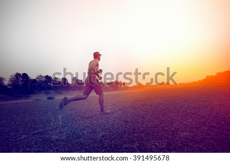 Military training run at the Sand