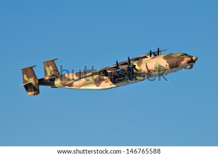 military transport plane - stock photo