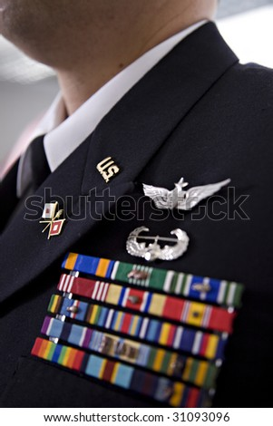 Military uniform Officer - stock photo