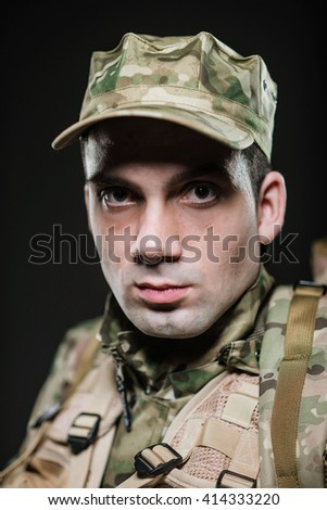 Military, war, conflict, soldiers - Special forces soldier man. - stock photo