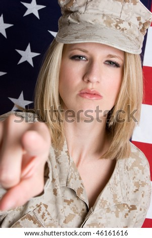 Military Woman - stock photo