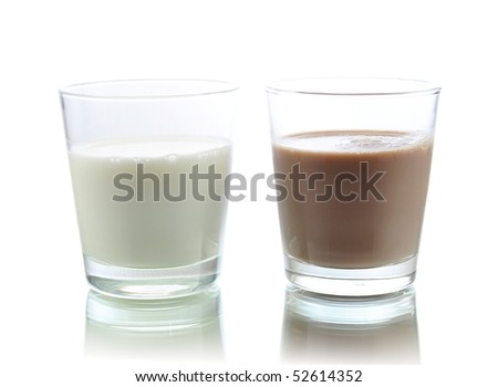 milk and chocolate milk