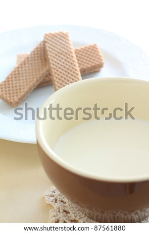 Milk and chocolate wafer