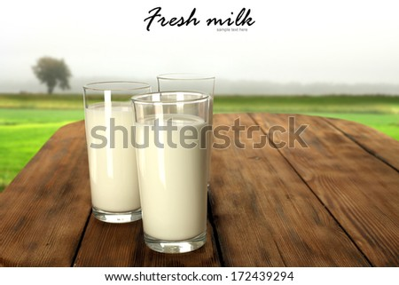 milk and retro table