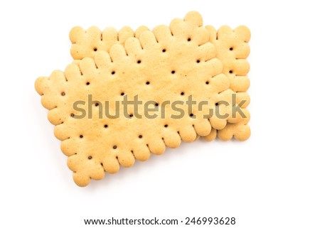 Milk Biscuits Isolated On White Background - stock photo