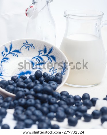 milk breakfast - stock photo