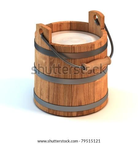 milk bucket - stock photo