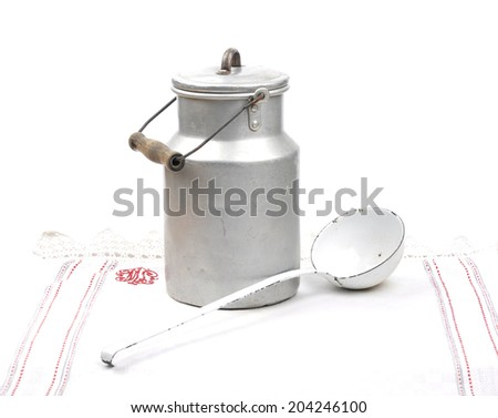 Milk can  - stock photo
