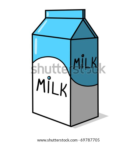 milk carton illustration milk box freehand stock illustration rh shutterstock com milk carton drawing tumblr milk carton drawing tumblr