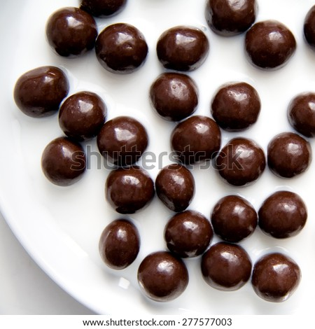 Milk Chocolate on a plate