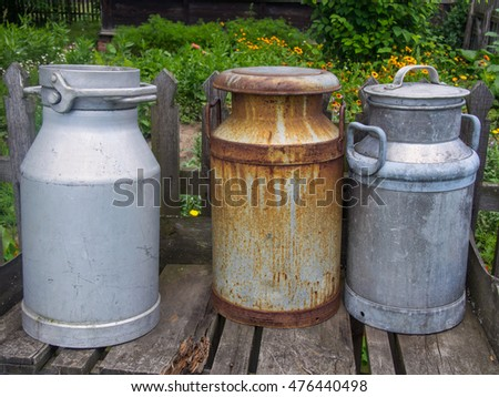 Milk churn is a tall, conical or cylindrical container for the transportation of milk.