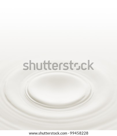 Milk. Circles on the surface of the milk - stock photo