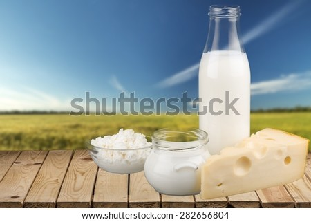 Milk, Dairy Product, Cheese.