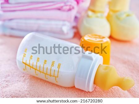 milk for baby - stock photo