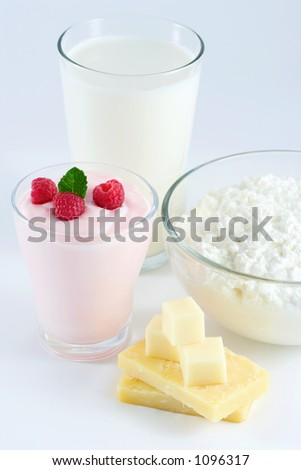 Milk group: milk, yogurt, cheese, cottage cheese