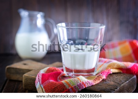 milk in glass - stock photo