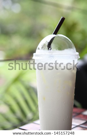 milk in the glass - stock photo