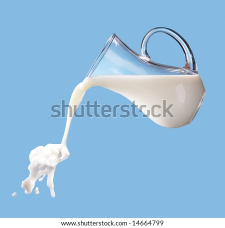 milk jug - stock photo