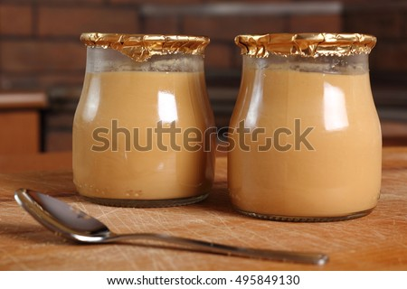 Milk pudding dessert jar