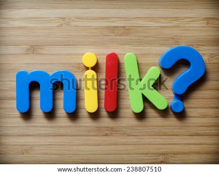 Milk question concept - stock photo
