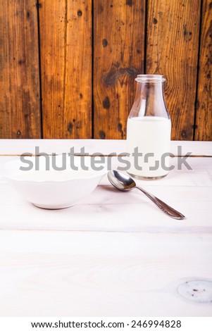 Milk soup - stock photo