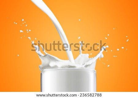 Milk Splash - stock photo