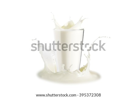 milk splash isolated on the background.with clipping path