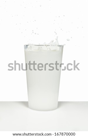 milk splashing from the glass