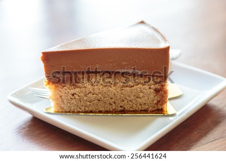 Milk tea cake - stock photo