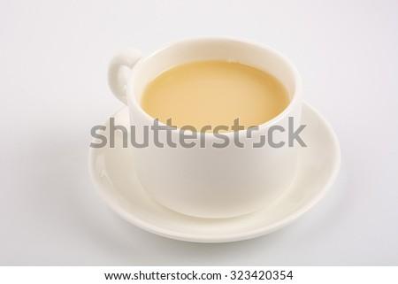 milk tea, top view - stock photo