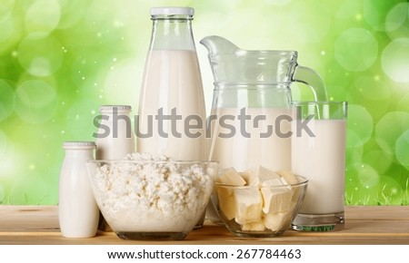 Milk, yoghurt, bowl.