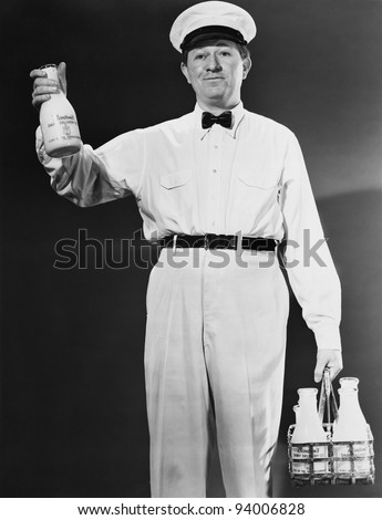 MILKMAN - stock photo