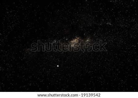 Milky Way above southern hemisphere - stock photo