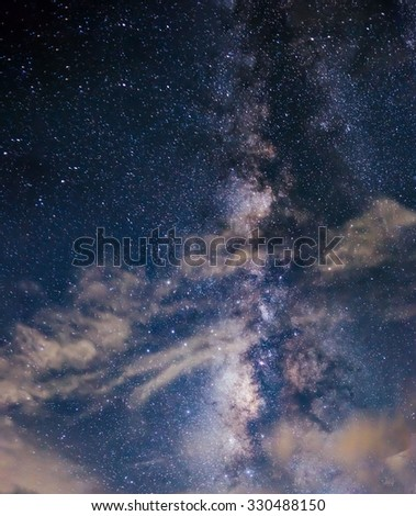 Milky way and clouds.