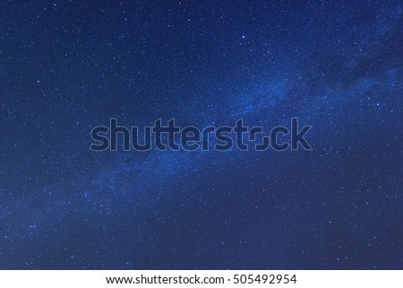 Milky way full of stars