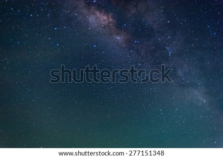 Milky Way Galaxy and Stars in Night Sky. - stock photo