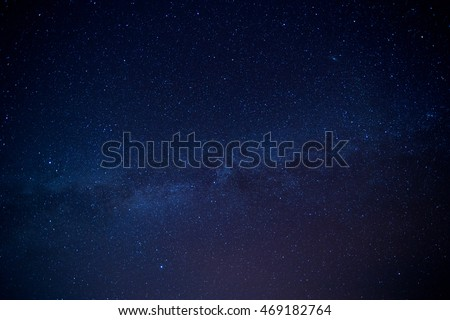 Milky Way Galaxy and Stars in Night Sky in mekong river (Sam Pan Bok grand canyon) ubon ratchathani province asia thai