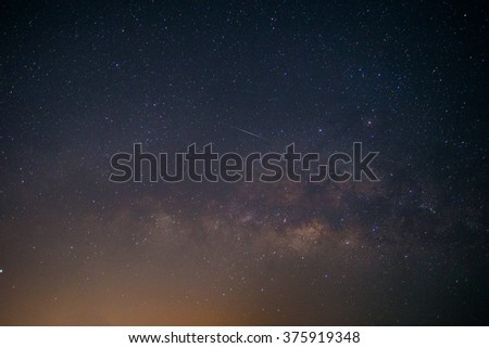 Milky Way Galaxy universe - stock photo