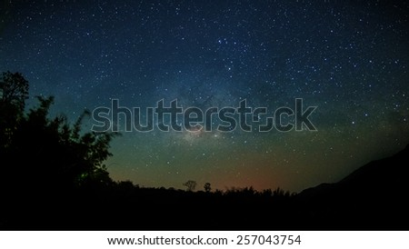 Milky way in Thailand - stock photo