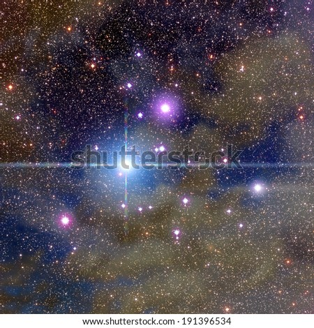 Milky Way nebulosity around hundreds of thousands stars in deep space.  - stock photo