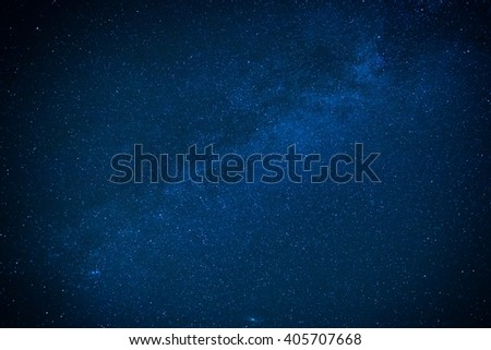 Milky way on the dark night sky. Stars on cosmos background - stock photo