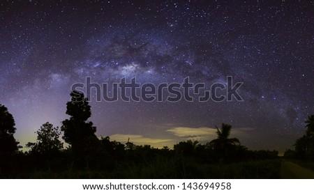 Milky Way Panorama - stock photo