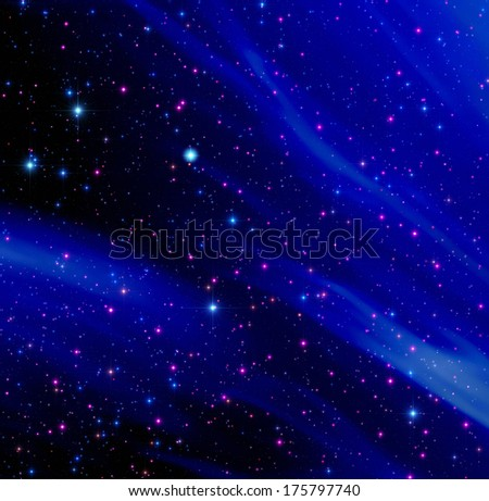 Milky Way silhouette on a fine dark sky. - stock photo