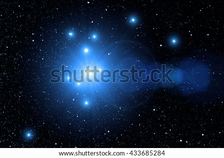 Milky way stars in deep space / cosmos. No elements of NASA or other third party. - stock photo