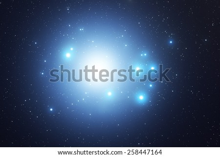 Milky way stars. Mosaic of several images taken through my telescope. - stock photo